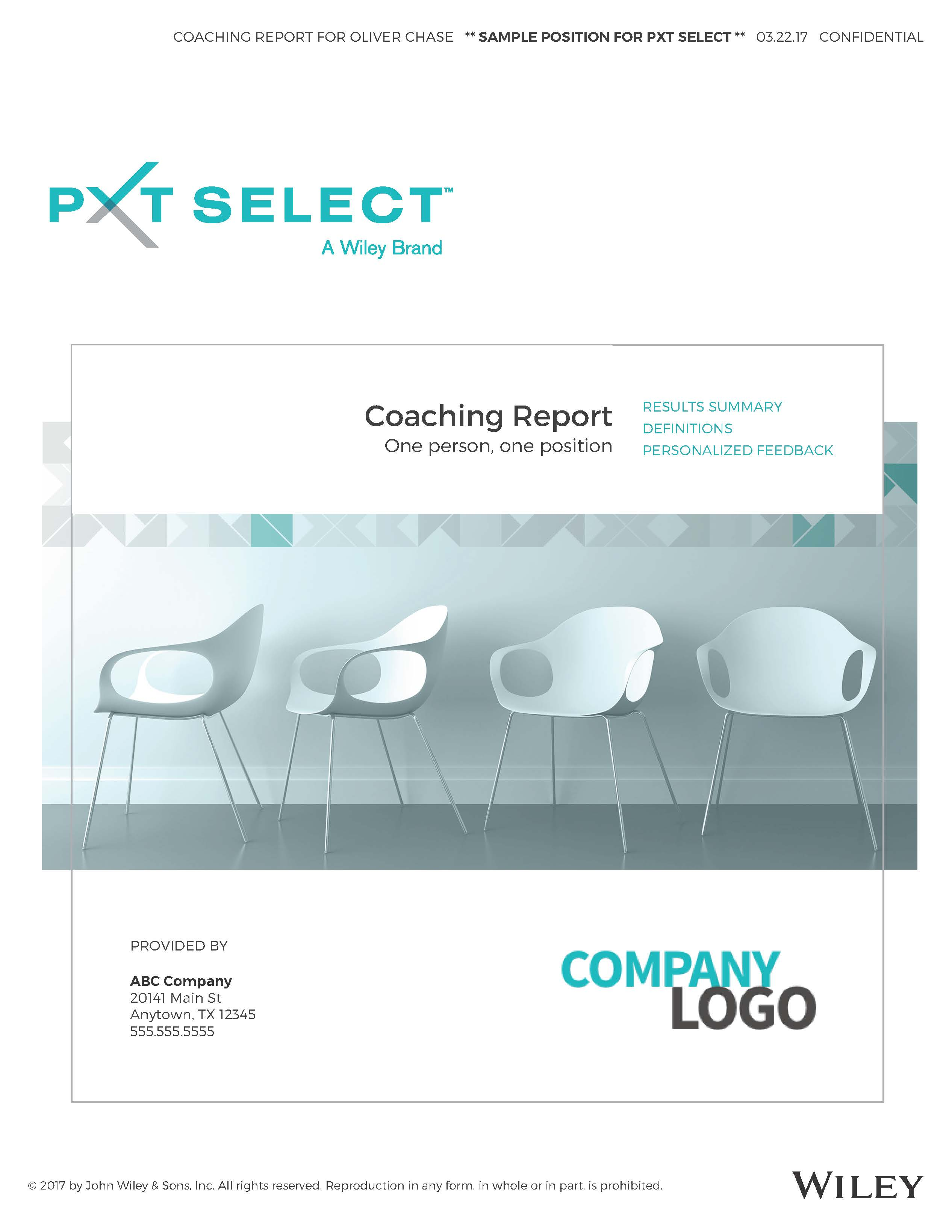 Coaching Sample Report Cover Image