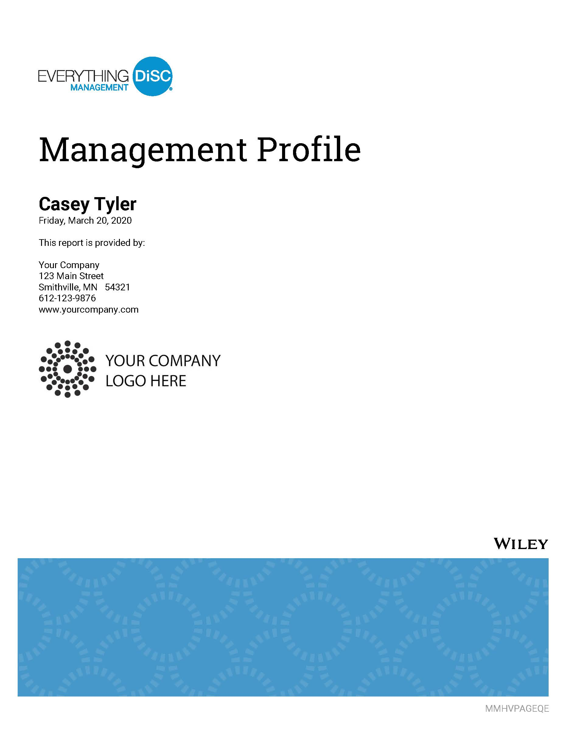 Everything DiSC Management Profile Cover Image 2020