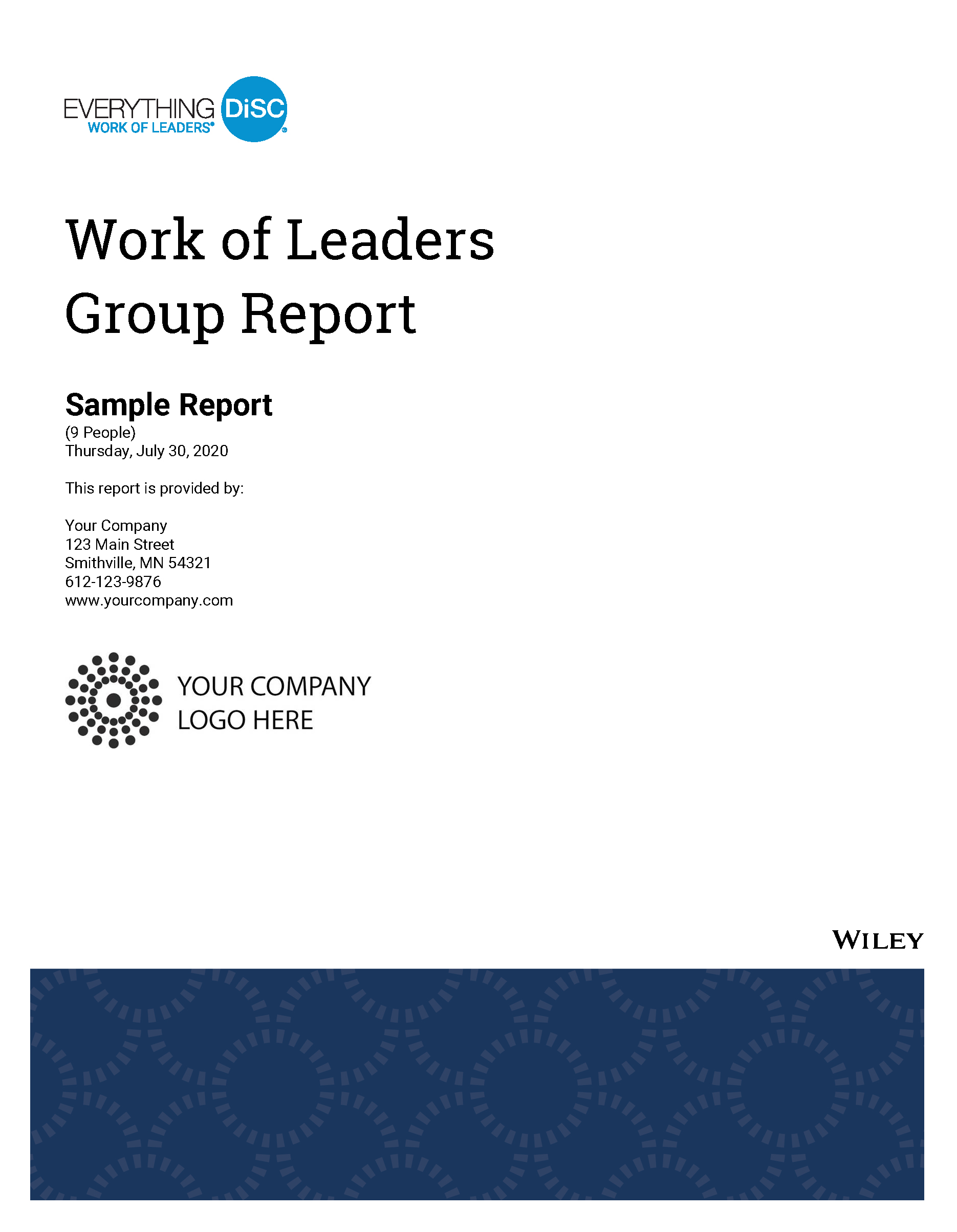 Everything DiSC Work of Leaders Group Sample Report Cover Image
