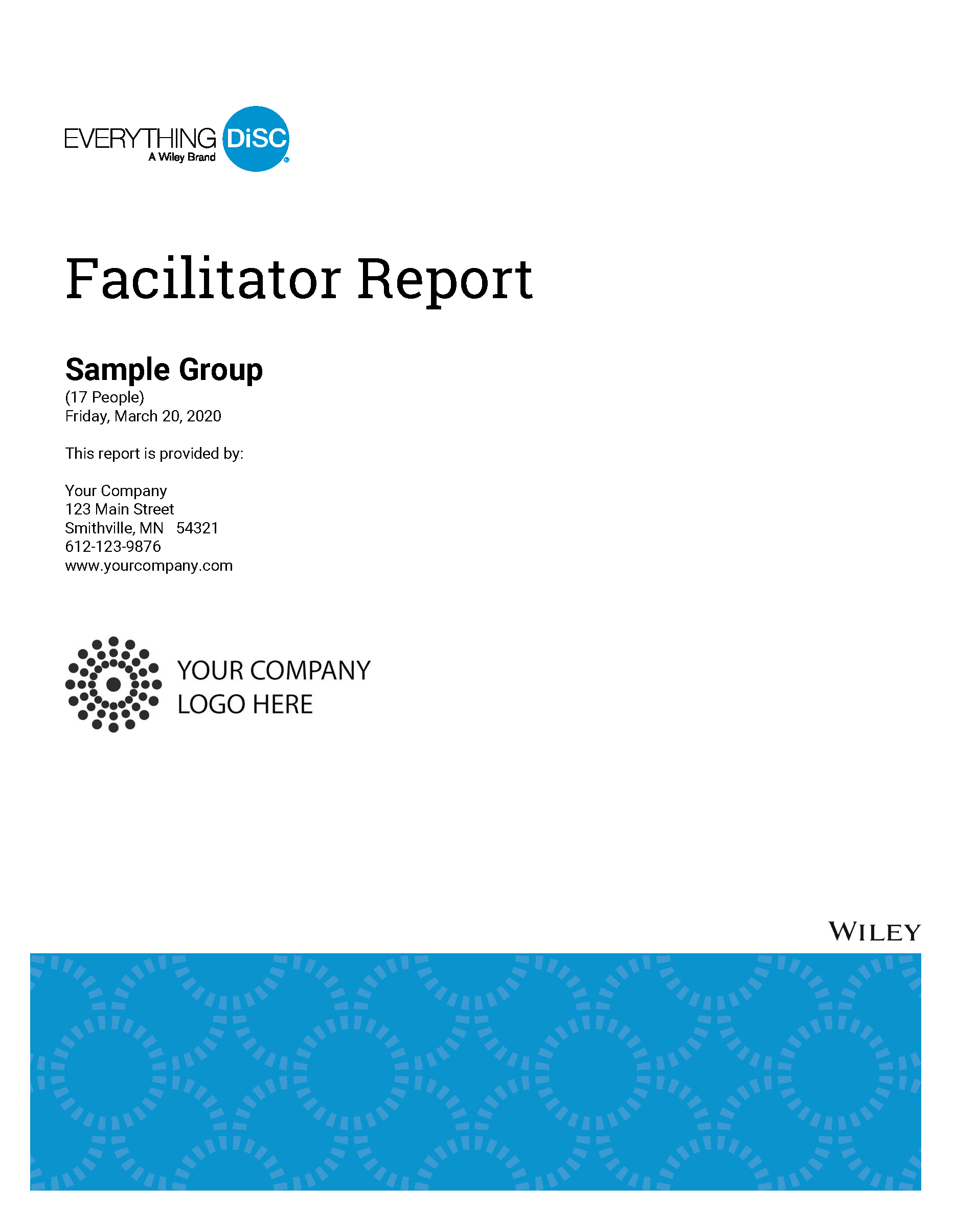 Everything DiSC Facilitor Report Cover May 2020