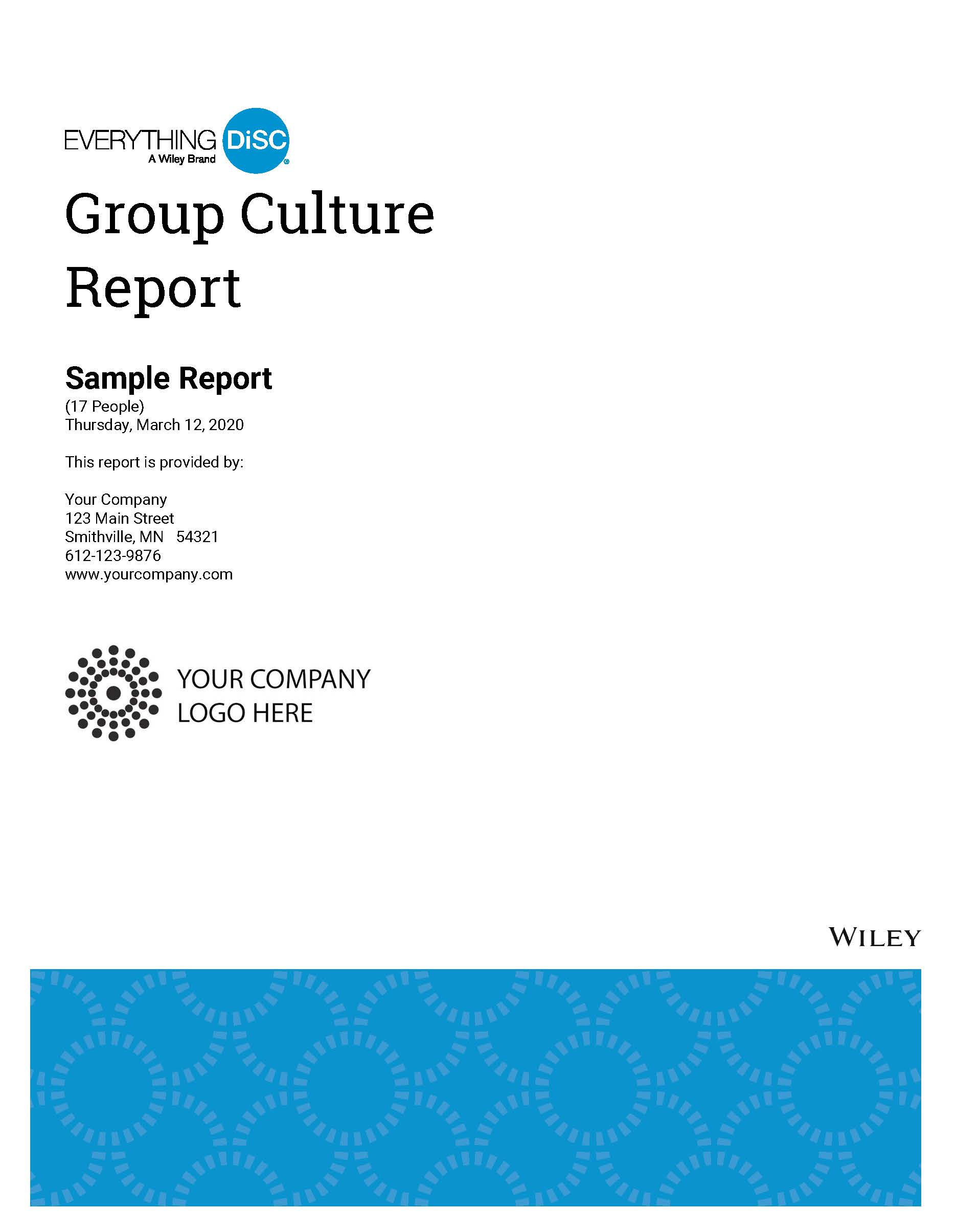 Everything DiSC Group Culture Report Cover May 2020