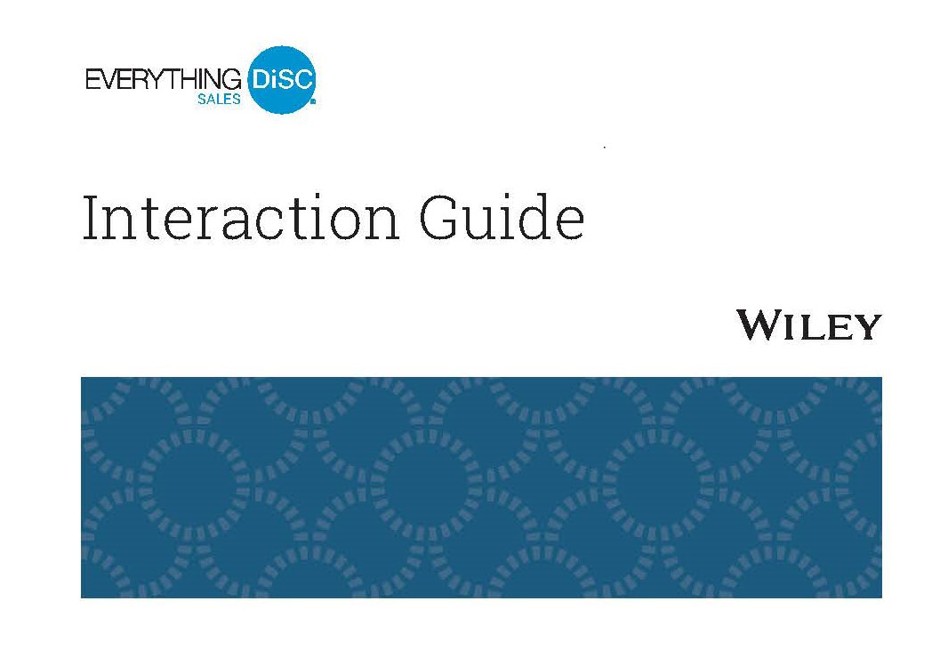 Everything DiSC Sales Interaction Guide Image 2020