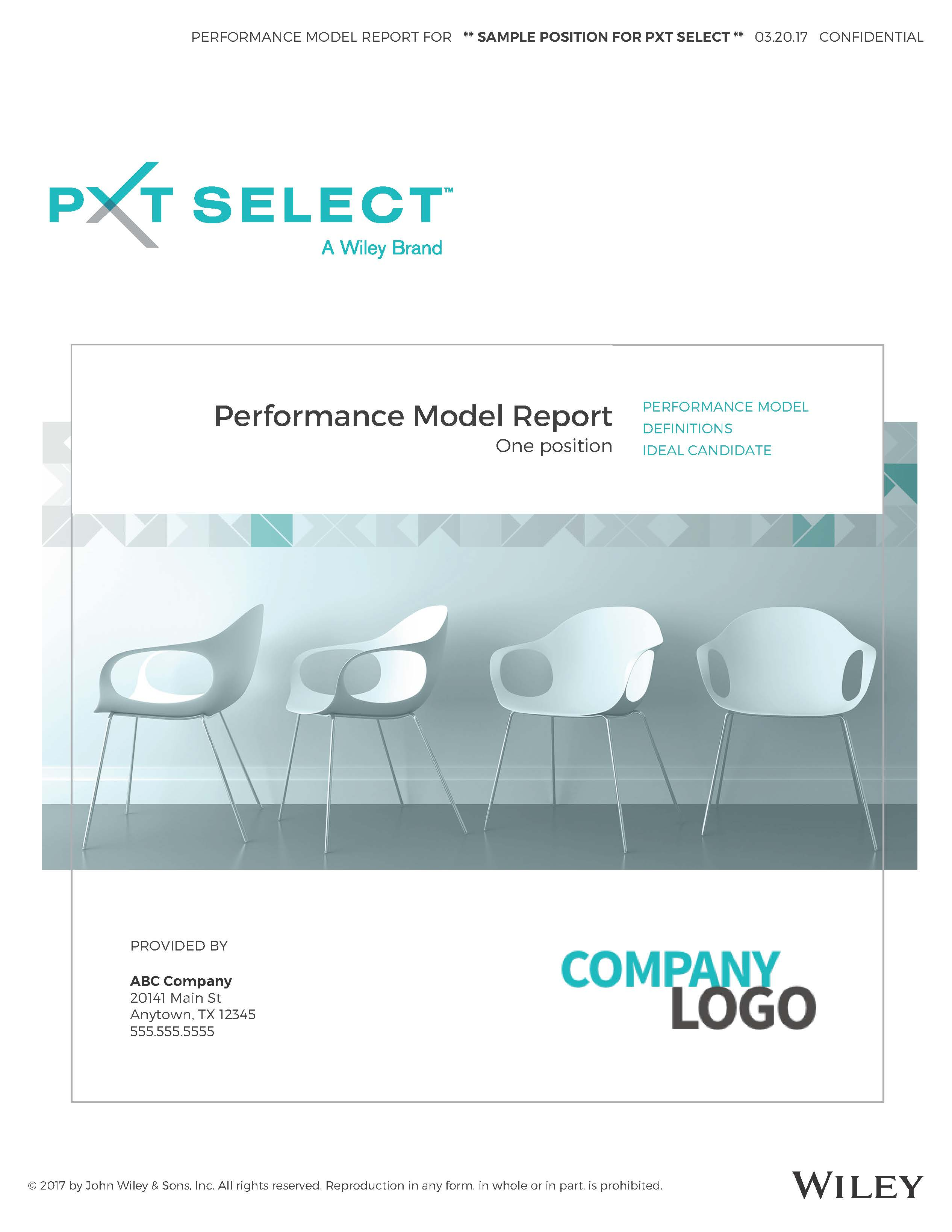 Performance Model Sample Report Cover