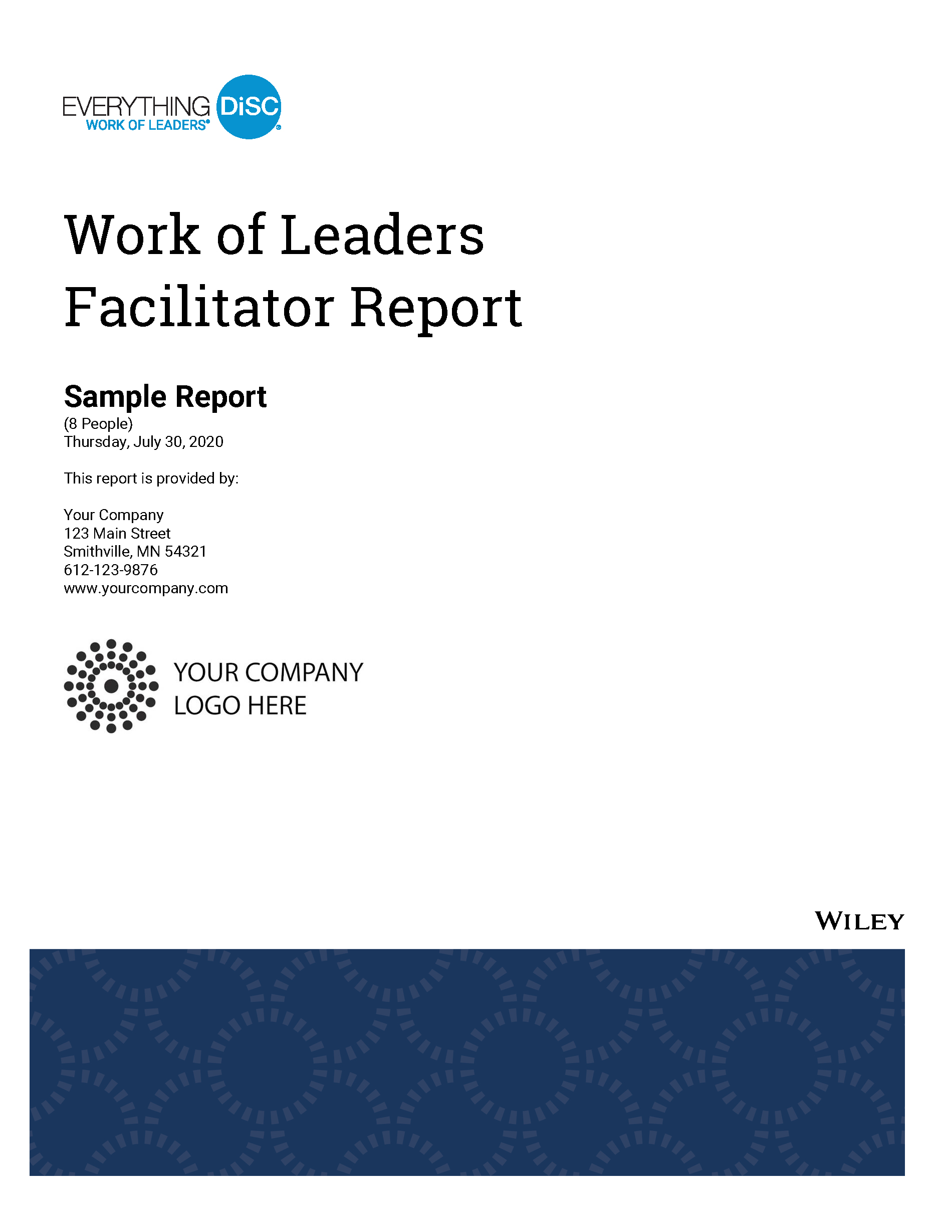 Everything DiSC Work of Leaders Facilitator Report Image 2020